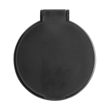 Plastic single mirror in black