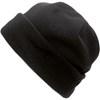 Fleece hat. in black
