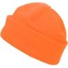 Fleece hat. in orange