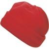 Fleece hat. in red