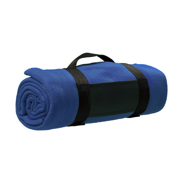 Fleece blanket in blue