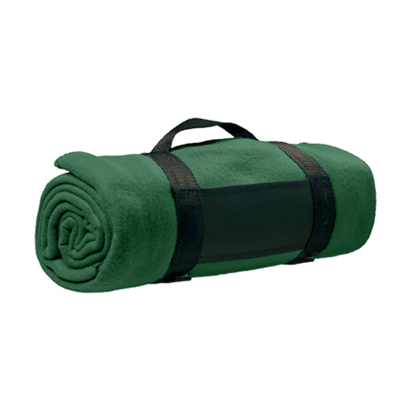 Fleece blanket in green