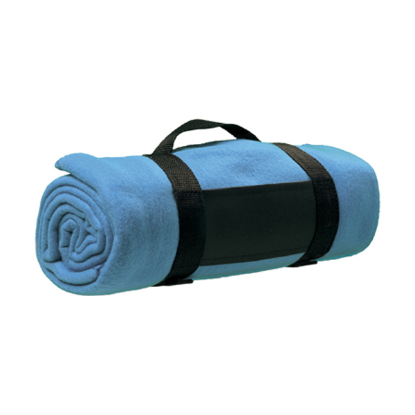 Fleece blanket in light-blue