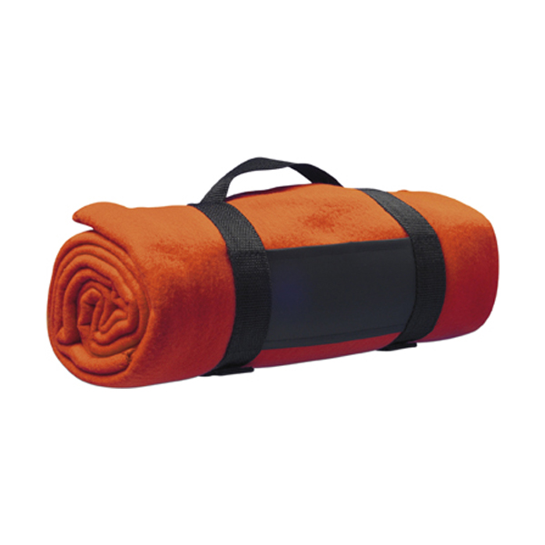Fleece blanket in orange
