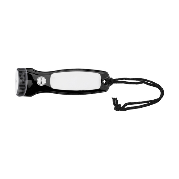 PVC extra thin pocket torch. in black