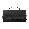 Fleece travel blanket in black
