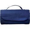 Fleece travel blanket in blue