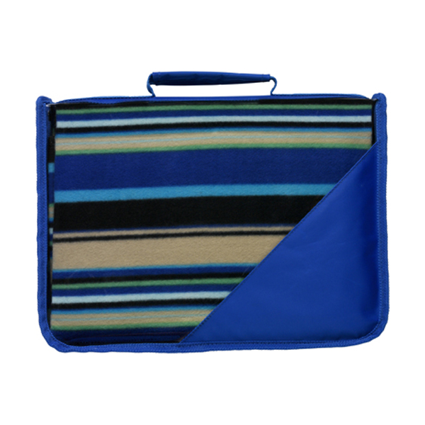 Fleece blanket in cobalt-blue