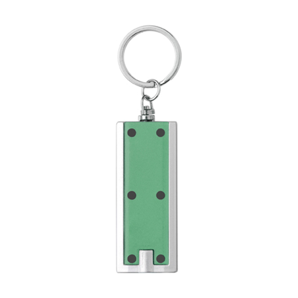 Key holder with a light in green