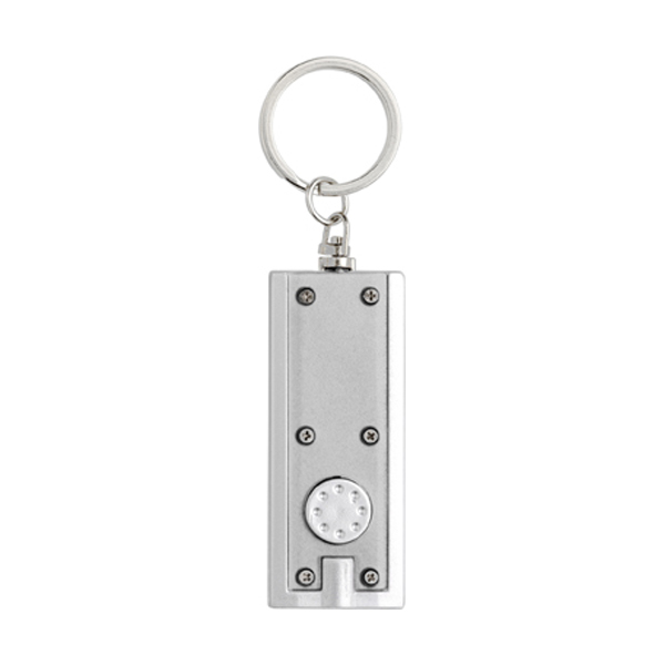 Key holder with a light in silver