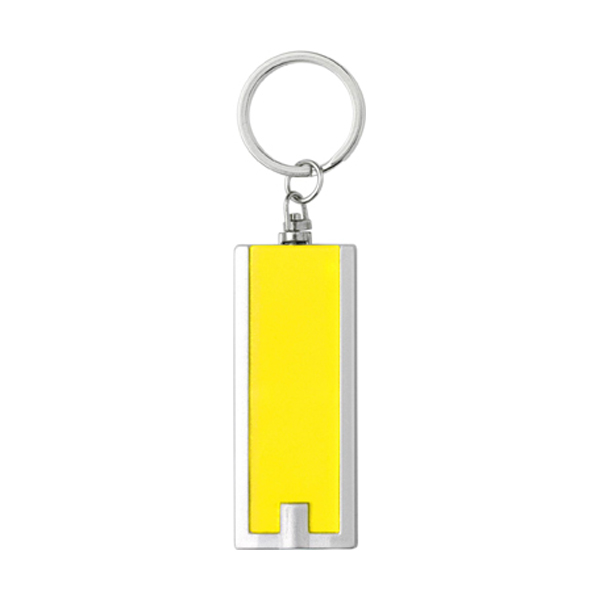 Key holder with a light in yellow