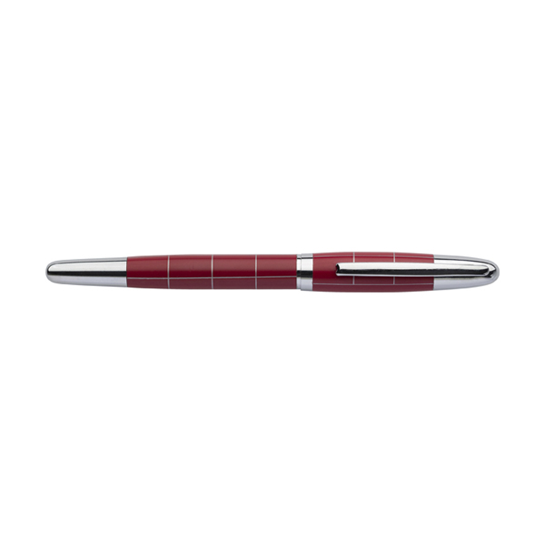 Metal ballpen in red-and-silver