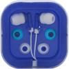 Pair of earphones. in blue