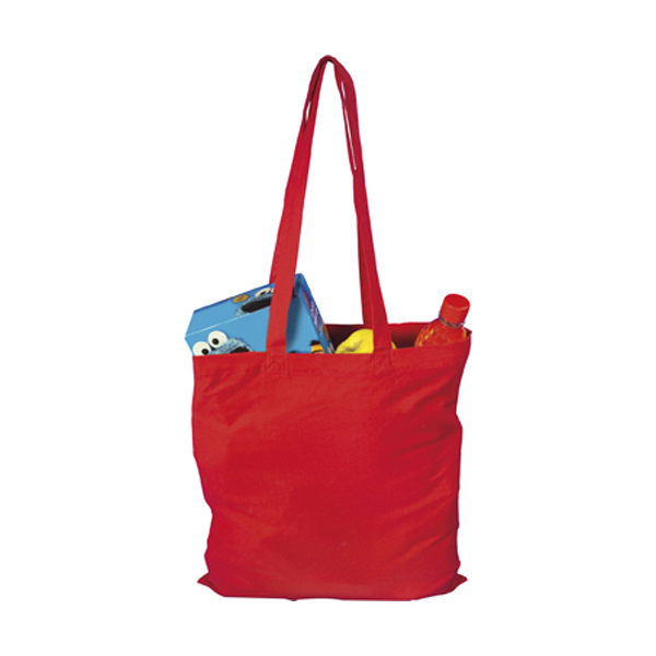 Bag with long handles, Colours in red