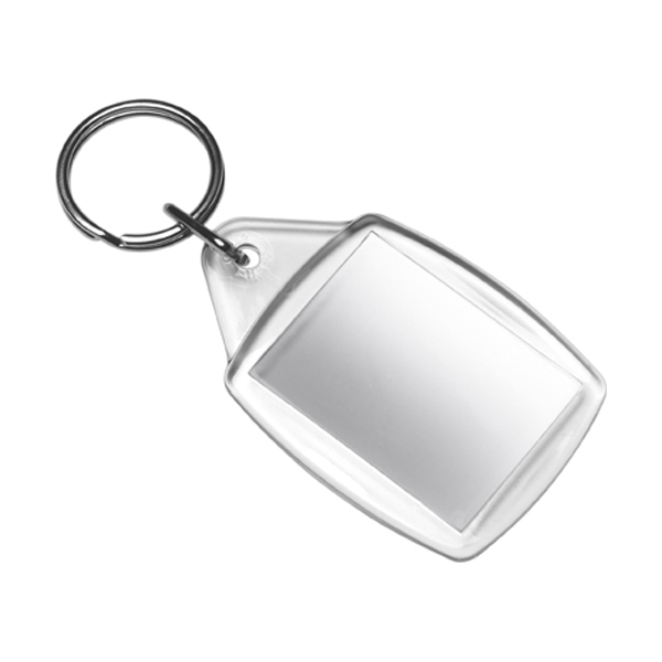 Key ring, unassembled only in transparent
