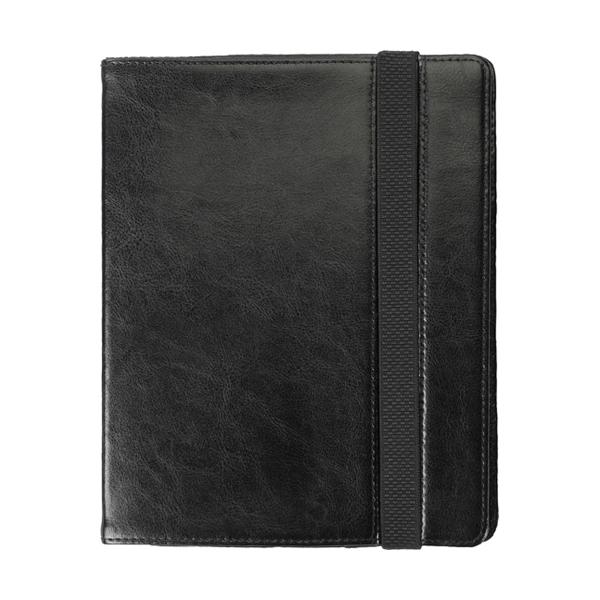 iPad holder in bonded leather. in black