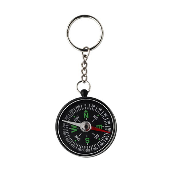 Key holder with compass in black