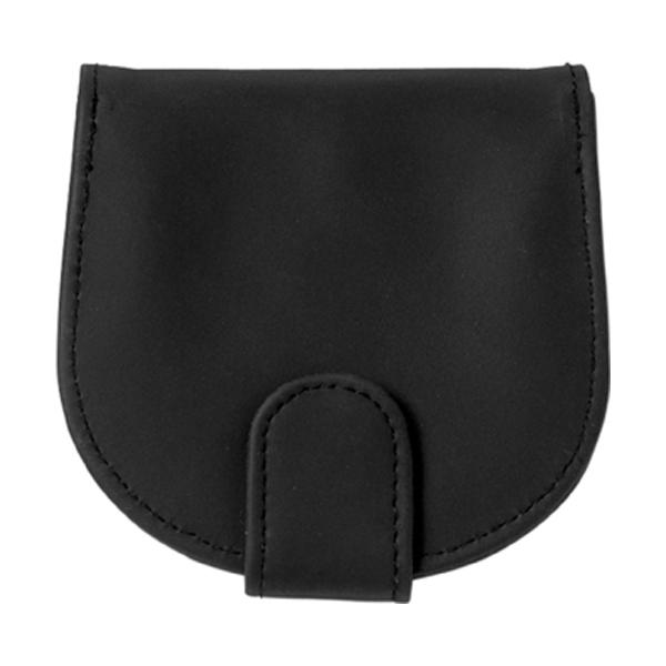 PVC coin purse. in black