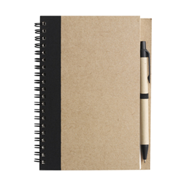 Recycled notebook. in black