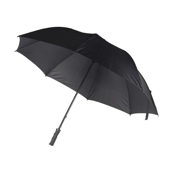 Polyester umbrella. in black