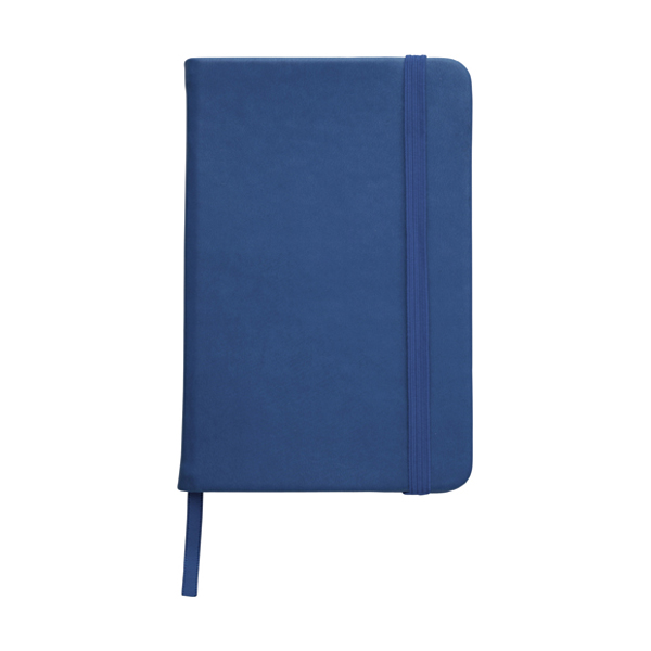 A6 Notebook with a soft PU cover in blue