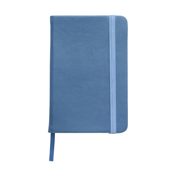 A6 Notebook with a soft PU cover in light-blue