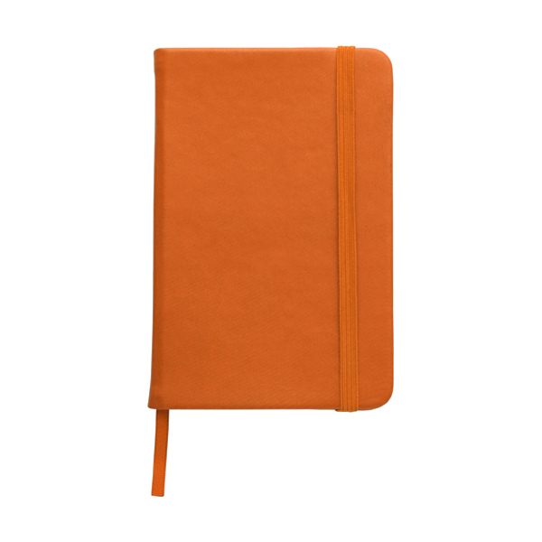 A6 Notebook with a soft PU cover in orange