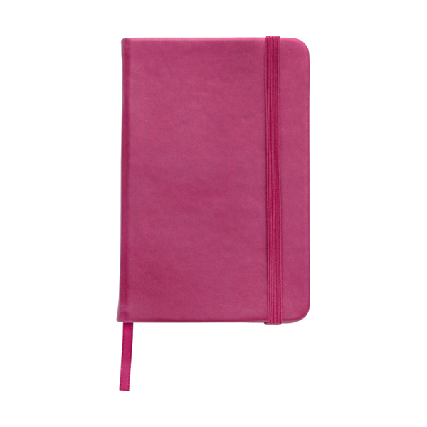 A6 Notebook with a soft PU cover in pink