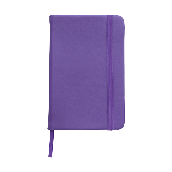 A6 Notebook with a soft PU cover in purple