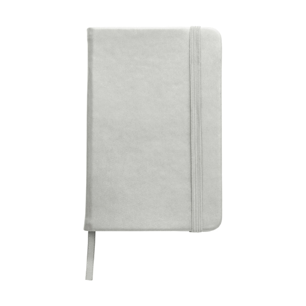 A6 Notebook with a soft PU cover in silver