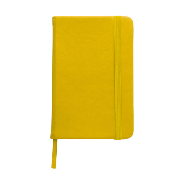 A6 Notebook with a soft PU cover in yellow