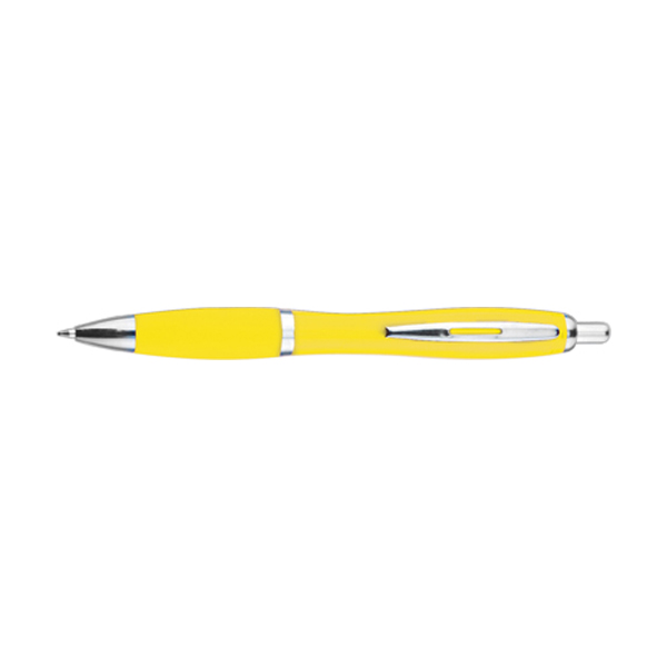 Newport ballpen with blue ink. in yellow