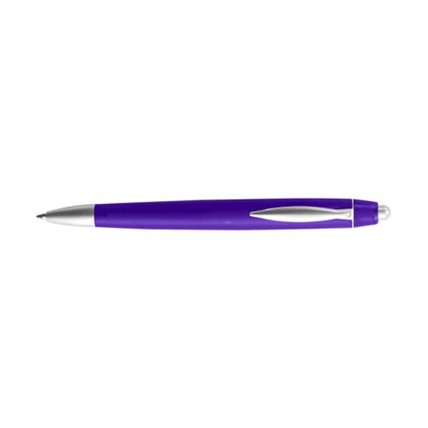 Rimini ballpen with blue ink. in purple