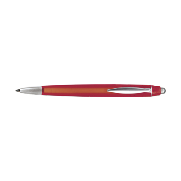 Rimini ballpen with blue ink. in red