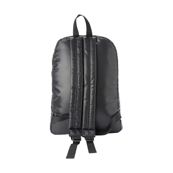 Polyester 240D backpack. in black