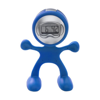 Flexi man alarm clock. in cobalt-blue