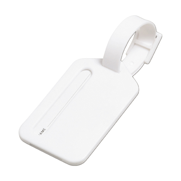Luggage tag in white