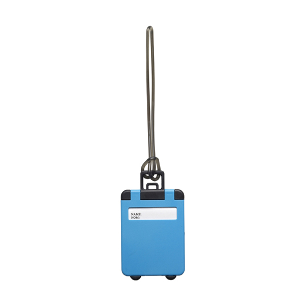 Luggage tag in cobalt-blue
