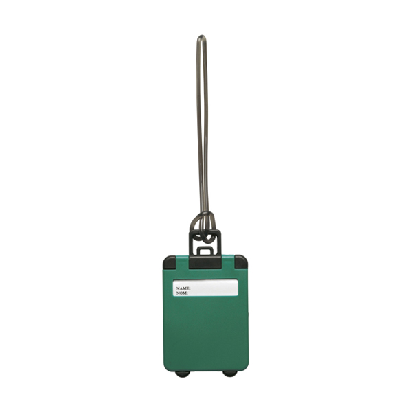 Luggage tag in green