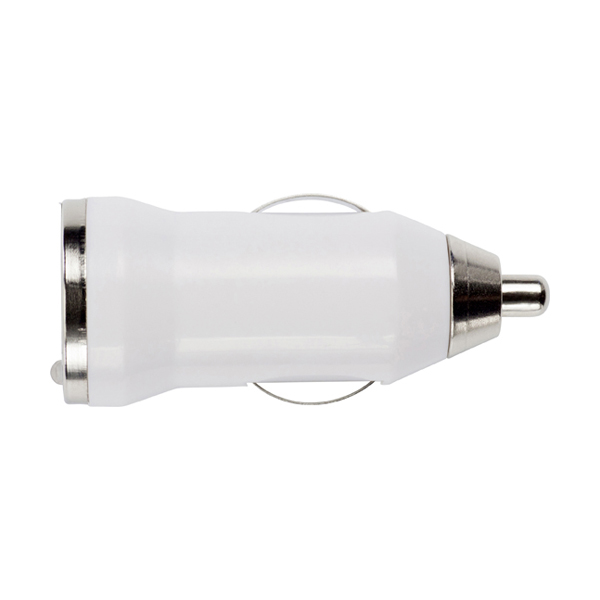 Plastic car power adapter. in white