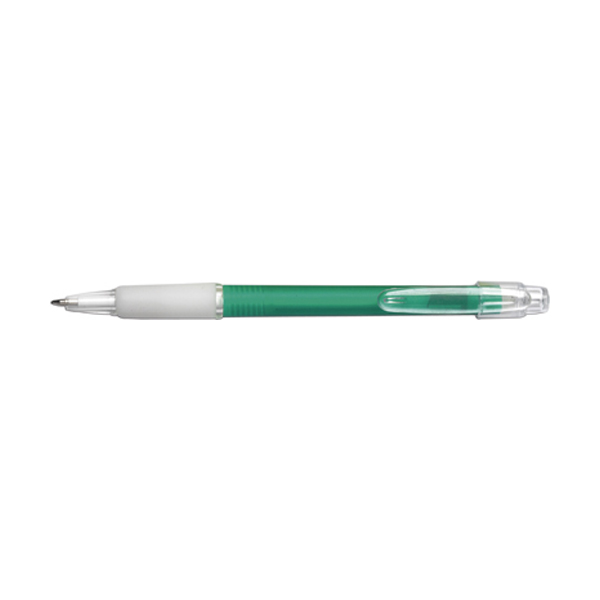Carman ballpen with blue ink. in green