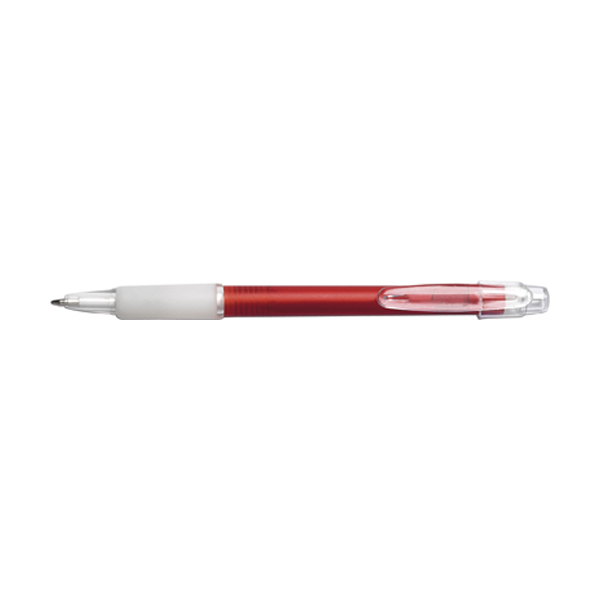 Carman ballpen with blue ink. in red