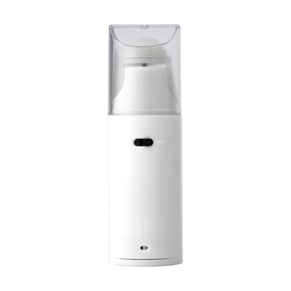 Plastic portable electronic fan. in white