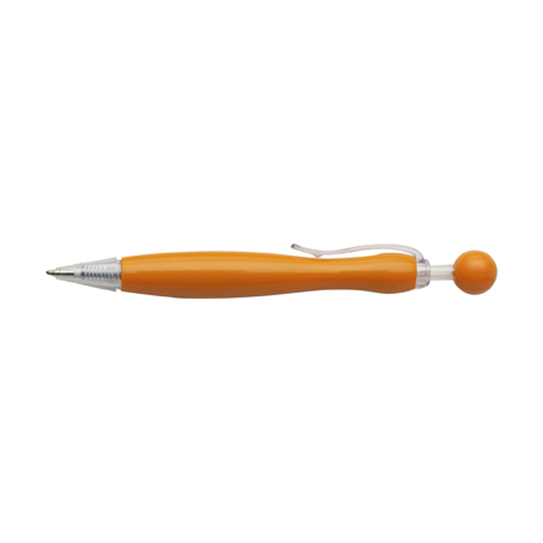 Mirate ballpen with blue ink. in orange
