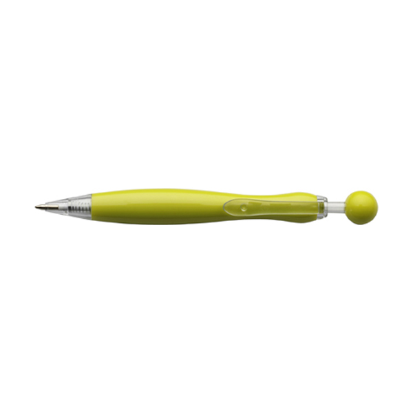 Mirate ballpen with blue ink. in yellow