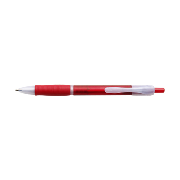 Storm ballpen with black ink. in red