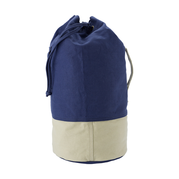Canvas 16oz duffel bag. in blue-khaki