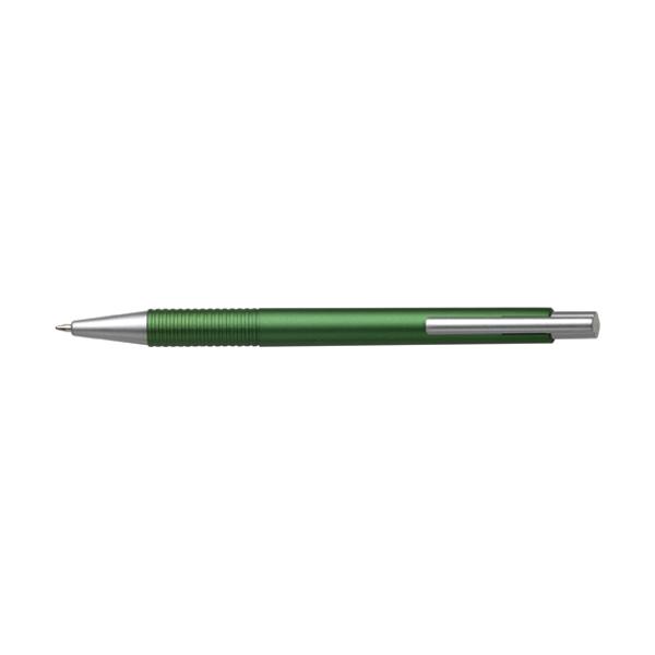 Ballpen with black ink. in light-green