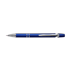 Plastic retractable ballpen with blue ink. in cobalt-blue