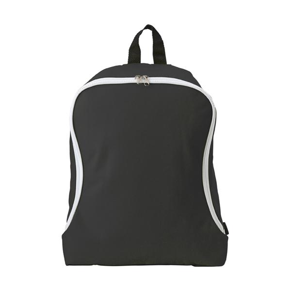 Polyester backpack. in black
